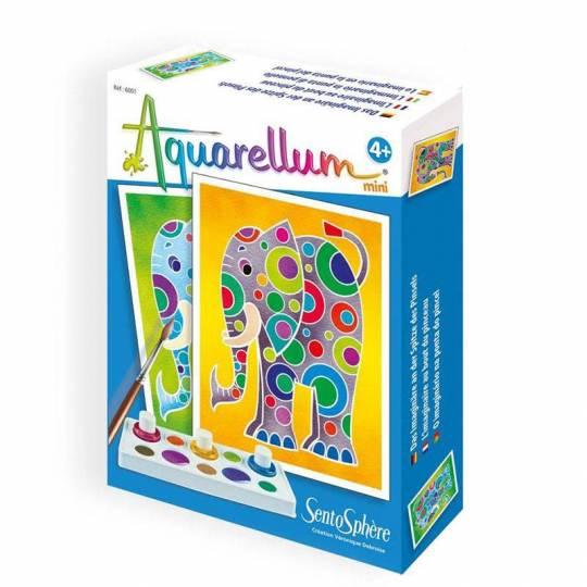 Aquarellum Mini Eléphants SentoSphère - 1