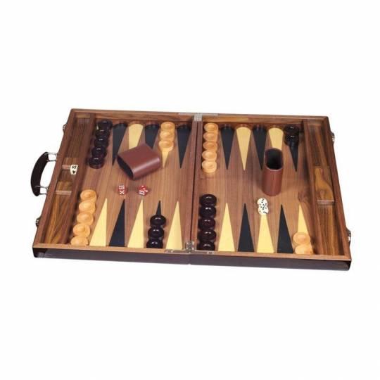 Backgammon bois marqueté luxe 46 cm Prestige - 1