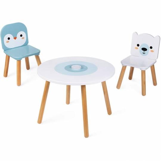 Table et 2 chaises - Banquise Janod - 1
