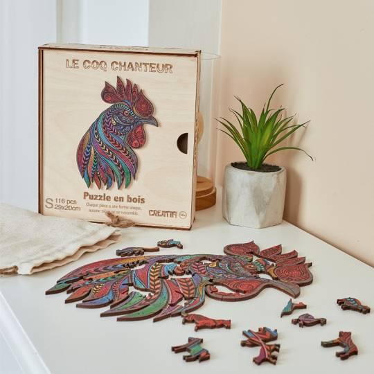 Le Coq Chanteur - Puzzle Créatif en bois S Puzzle Creatif - 2