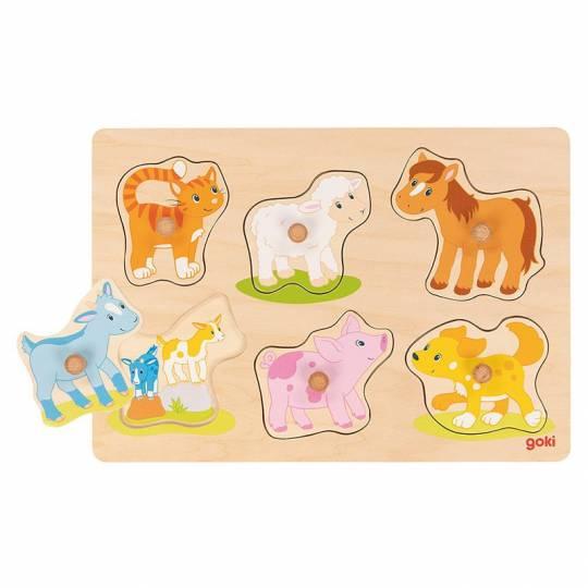 Puzzle avec images cachées - Maman et son petit II - 6 pcs Goki - 1