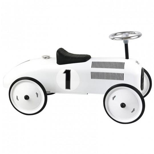 Porteur voiture vintage blanc polaire Vilac - 1