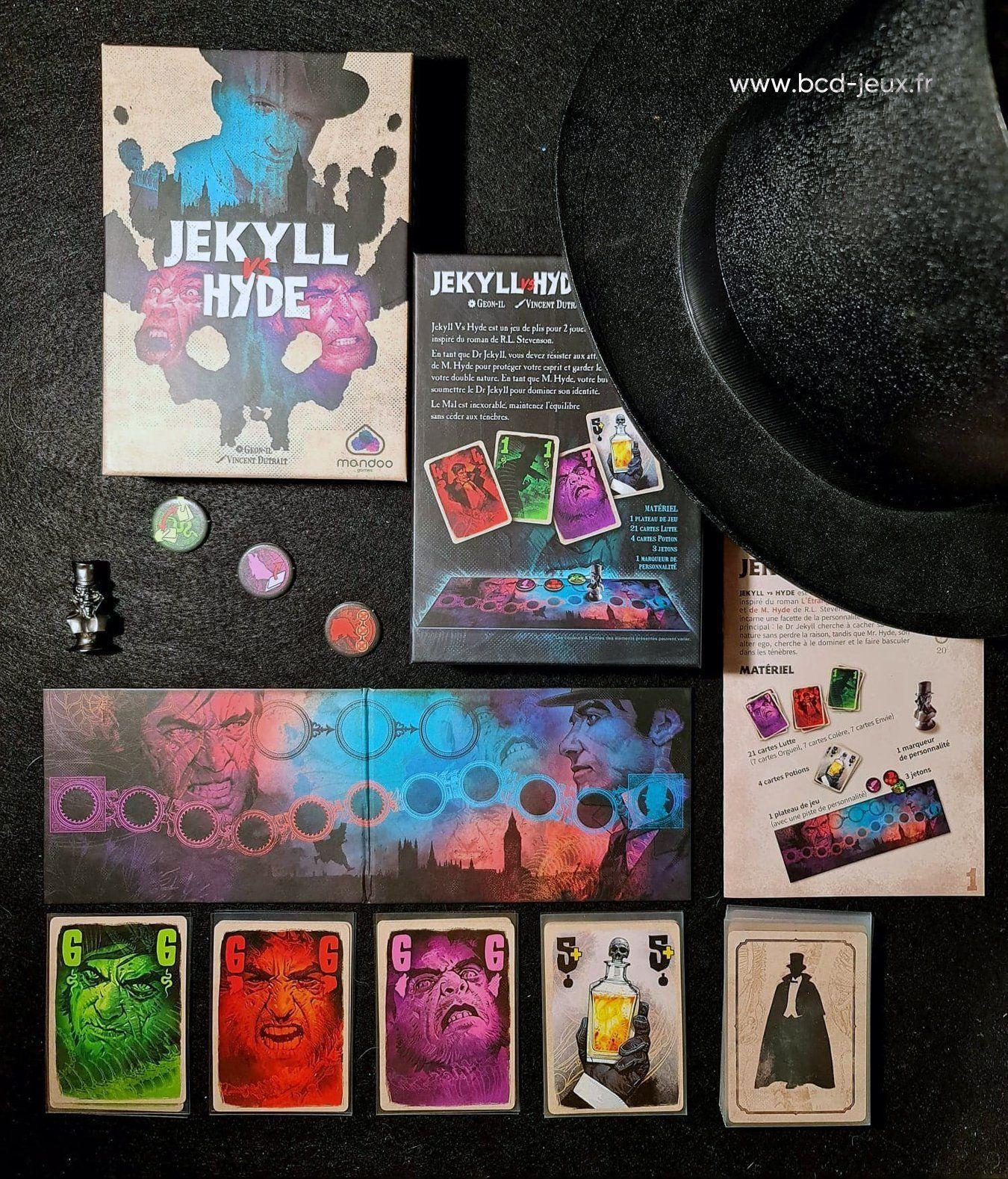 La présentation complète du jeu de société Jekyll Vs Hyde sur BCD Jeux