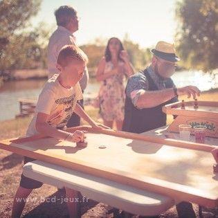 Animation d'événement avec les collectivités locales pour les enfants avec des jeux en bois géants