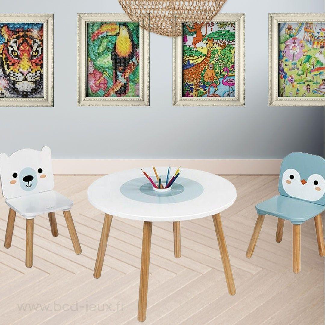 Table et chaises pour enfant Collection Banquise de chez Janod par BCD Jeux