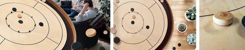 Crokinole 78 XXL - Jeu en bois géant chez BCD Jeux