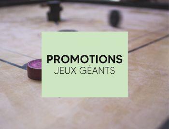 Promotions de jeux en bois géants et extérieurs