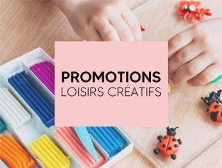 Promotions loisirs créatifs : création, art, stylisme, coloriage, modelage et peinture
